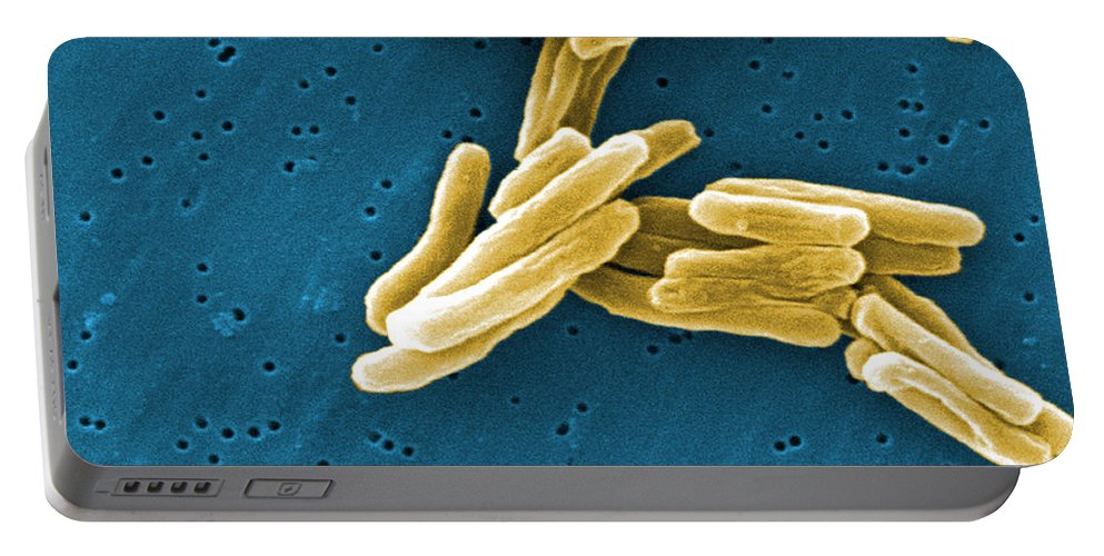 Science Portable Battery Charger featuring the photograph Mycobacterium Tuberculosis Sem by Science Source