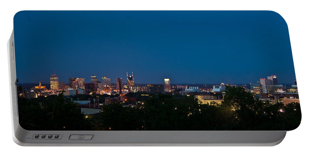 Nashville Portable Battery Charger featuring the photograph Nashville By Night 3 by Douglas Barnett