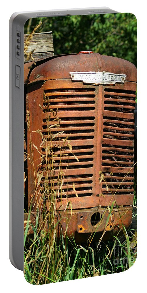 Tractors Portable Battery Charger featuring the photograph Old Mccormick Deering by Randy Harris