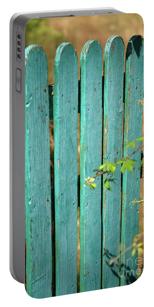 Fence Portable Battery Charger featuring the photograph Open Gate by Gaspar Avila