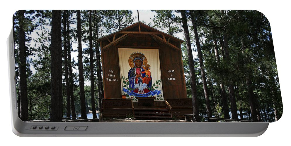 Our Lady Of Czestochowa Portable Battery Charger featuring the photograph Our Lady Of Czestochowa by Barbara McMahon