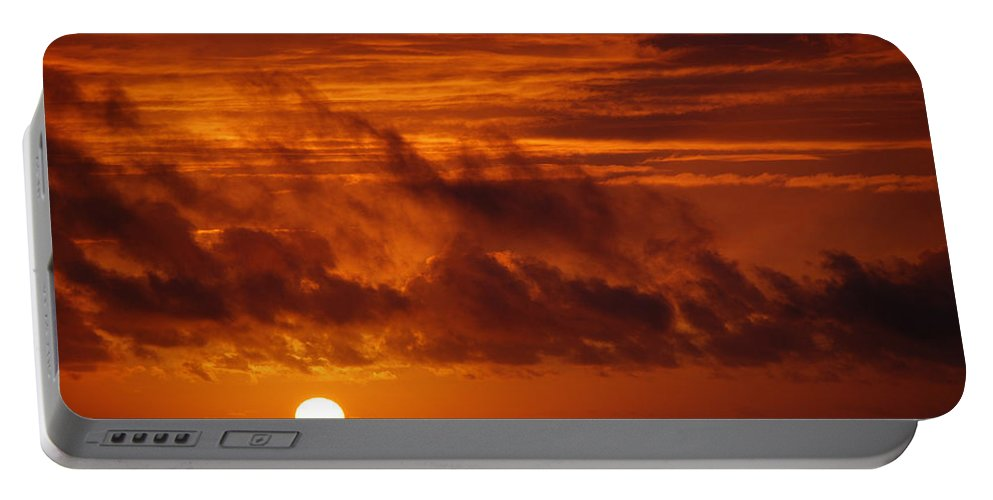 Sunset Portable Battery Charger featuring the photograph Pacific Sunset by Eric Tressler