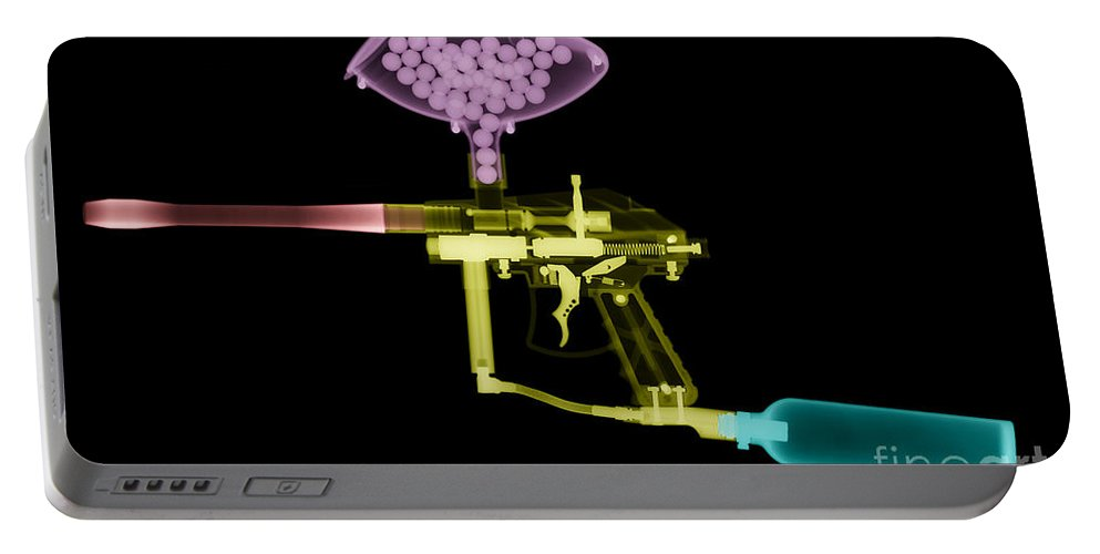 Radiograph Portable Battery Charger featuring the photograph Paintball Gun by Ted Kinsman