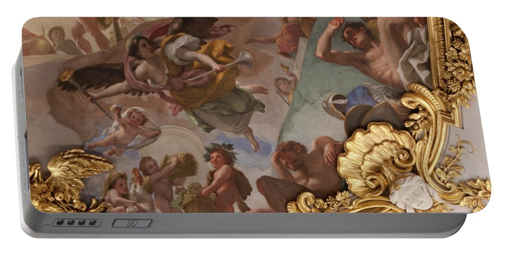 Madrid Portable Battery Charger featuring the photograph Palace Ceiling Detail by Lorraine Devon Wilke