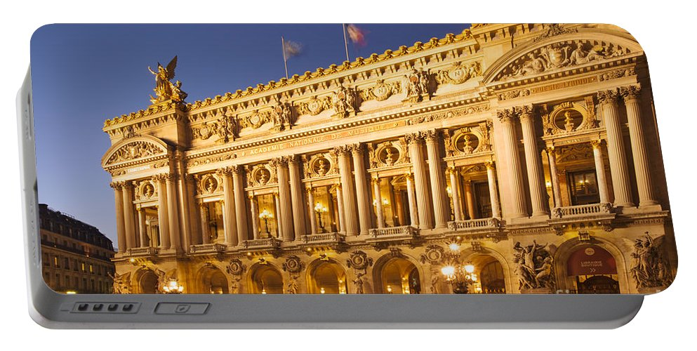 Architectural Portable Battery Charger featuring the photograph Palais Garnier by Brian Jannsen