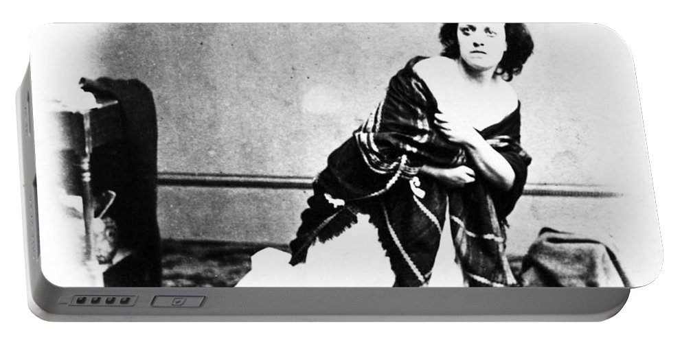 1865 Portable Battery Charger featuring the photograph Pauline Cushman (1833-1893) by Granger