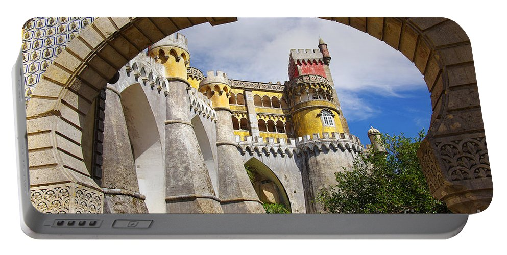 Arabian Portable Battery Charger featuring the photograph Pena Palace by Carlos Caetano