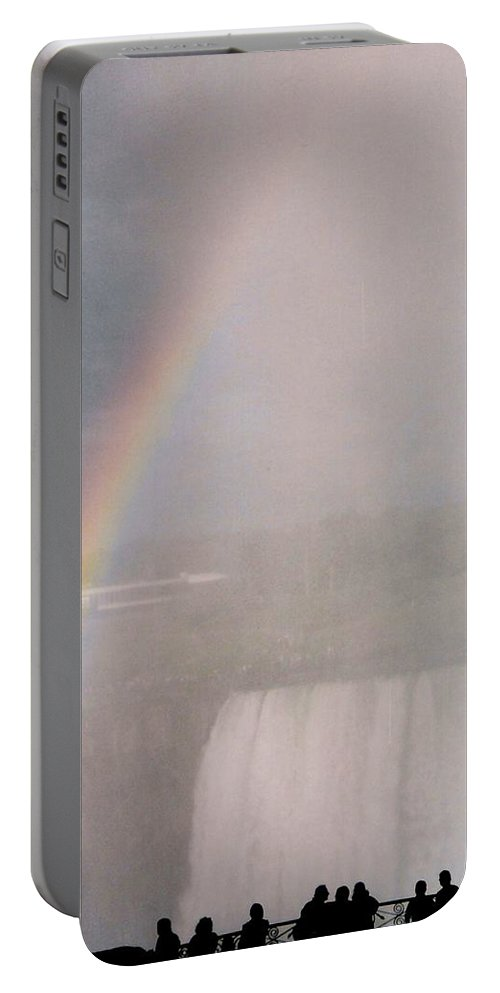 Waterfall Portable Battery Charger featuring the photograph Rainbow Falls by Pharris Art