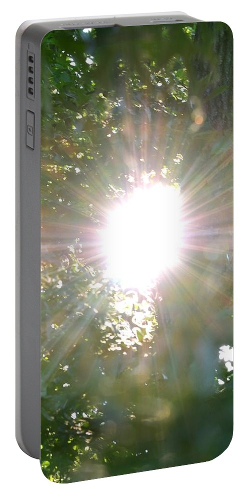 Rainbow Portable Battery Charger featuring the photograph Rainbow Rays by Maria Urso