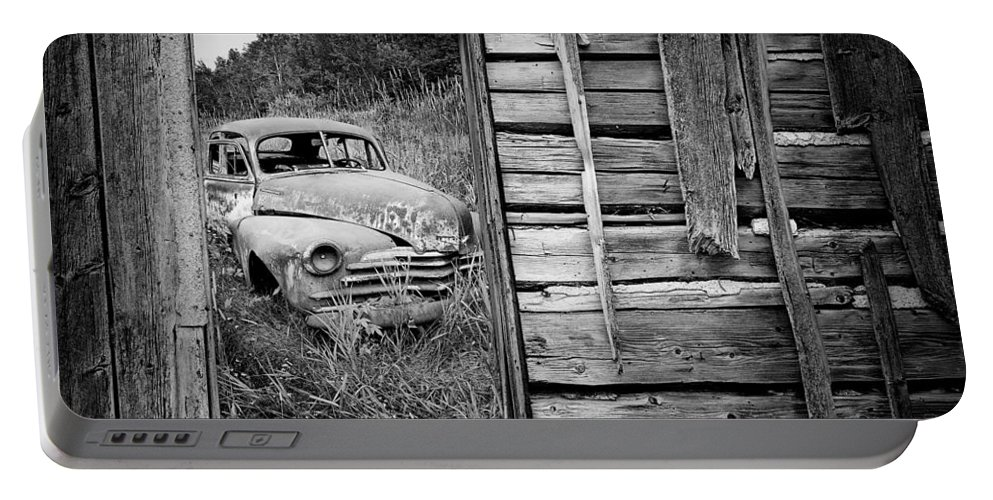 Art Portable Battery Charger featuring the photograph Ravages Of Time by Randall Nyhof