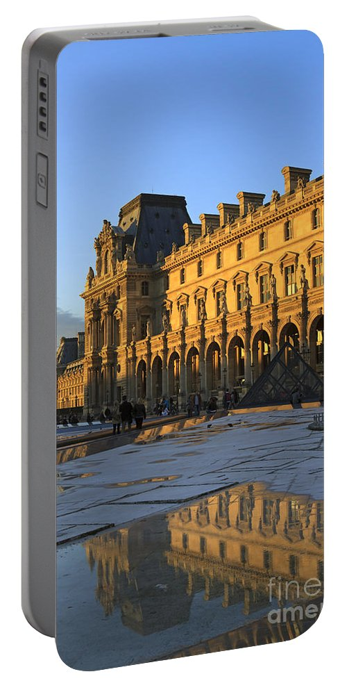 Richelieu Wing Portable Battery Charger featuring the photograph Richelieu Wing Of The Louvre Museum In Paris by Louise Heusinkveld
