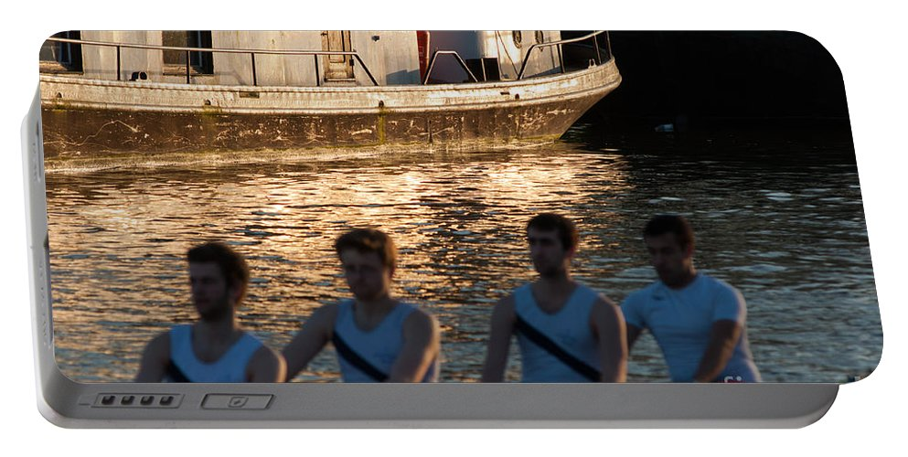British Portable Battery Charger featuring the photograph Rowers At Sunset by Andrew Michael