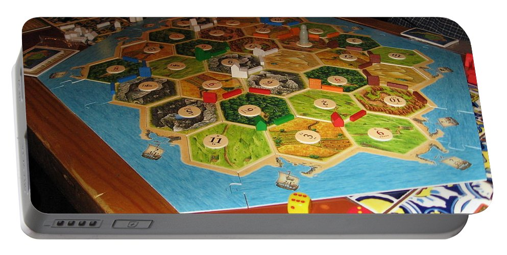 Games Portable Battery Charger featuring the photograph Settlers Of Catan by Amy Hosp