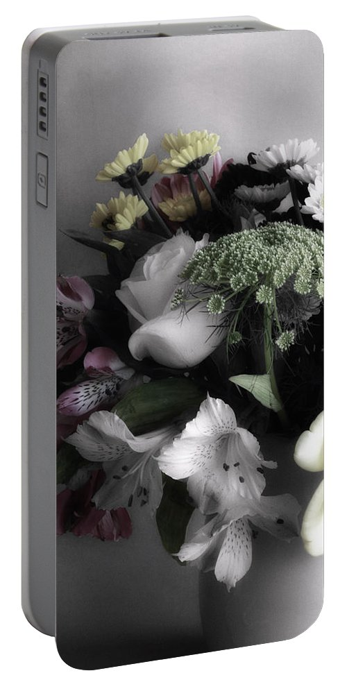Digitally Hand Colored Portable Battery Charger featuring the photograph Spring Bouquet by Linda Dunn