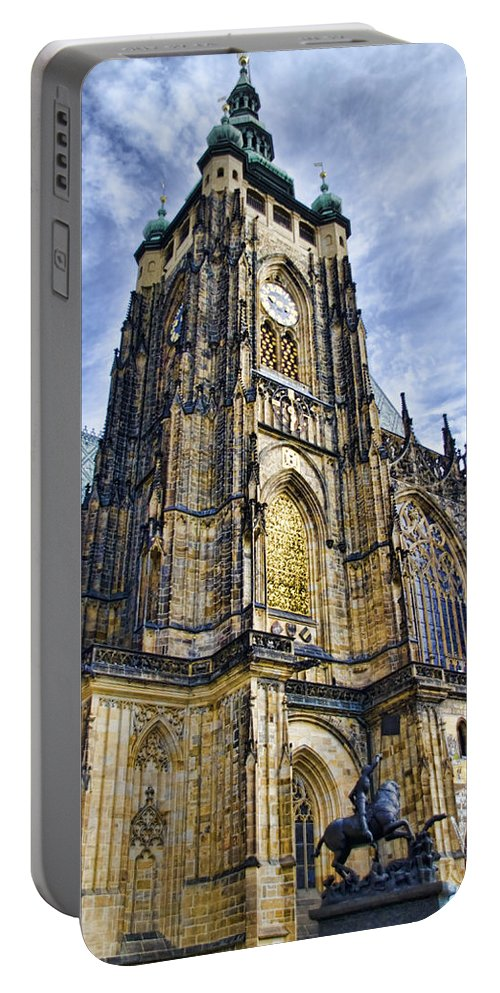 St Vitus Cathedral Portable Battery Charger featuring the photograph St Vitus Cathedral - Prague by Jon Berghoff