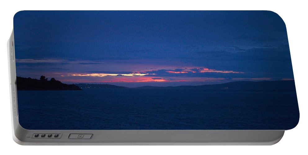 2012 Portable Battery Charger featuring the photograph Sunset In Mali Drvenik by Jouko Lehto
