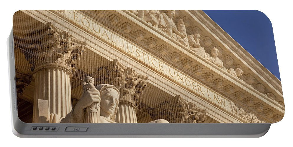 Supreme Court Portable Battery Charger featuring the photograph Supreme Court by Brian Jannsen