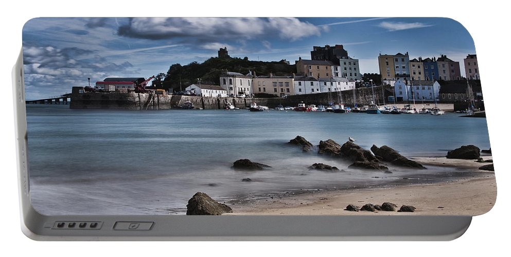 Tenby Harbour Portable Battery Charger featuring the photograph Tenby Harbour 2 by Steve Purnell