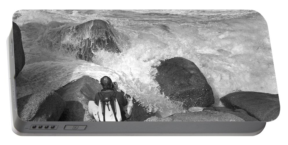 France Portable Battery Charger featuring the photograph The Photographer On Location by Heiko Koehrer-Wagner