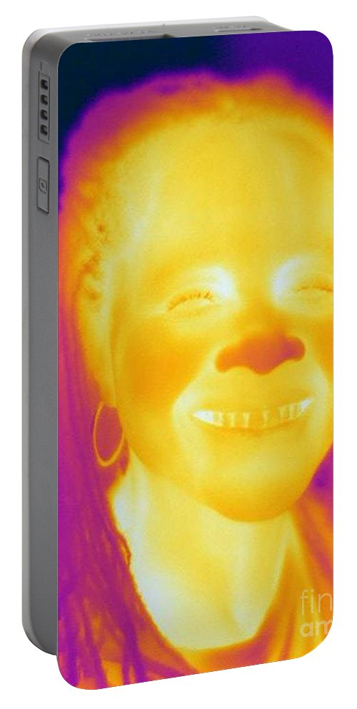 Thermogram Portable Battery Charger featuring the photograph Thermogram Of A Woman by Ted Kinsman