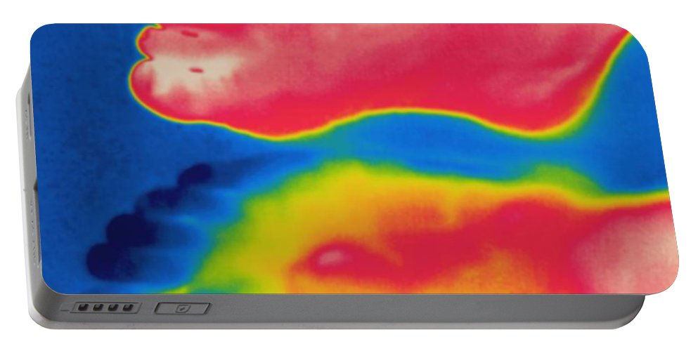 Thermogram Portable Battery Charger featuring the photograph Thermogram Of Circulation In Feet by Ted Kinsman