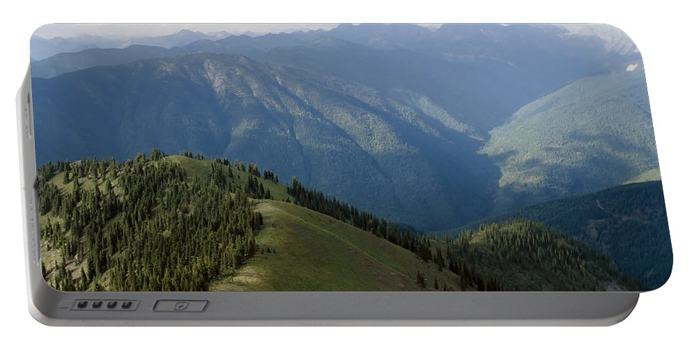 Americas Portable Battery Charger featuring the photograph Top Of The World View by Roderick Bley