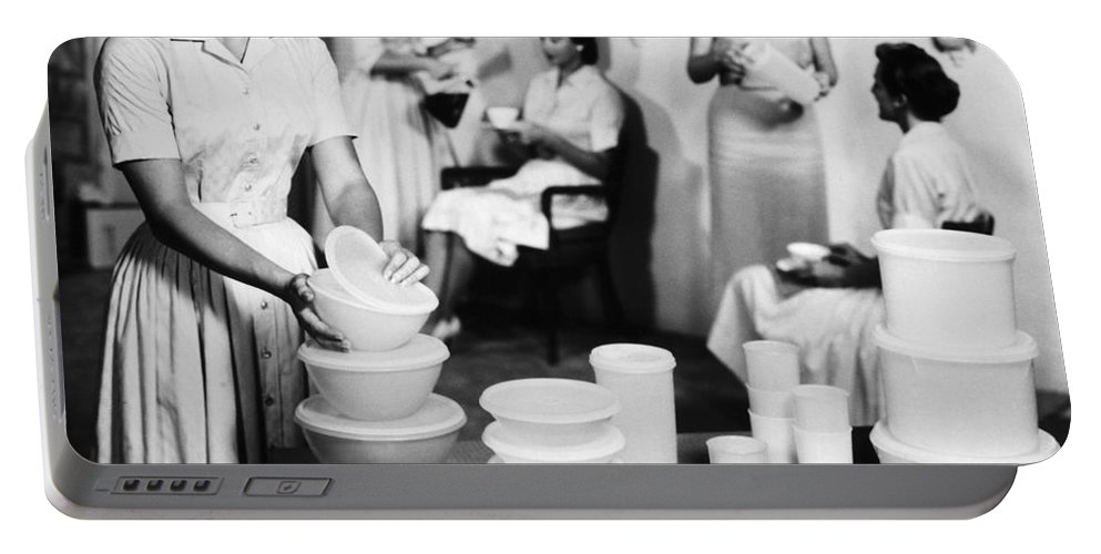 1950s Portable Battery Charger featuring the photograph TUPPERWARE PARTY, 1950s by Granger