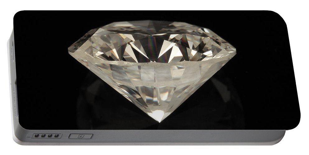 Crystal Portable Battery Charger featuring the photograph Two Karat Diamond by Raul Gonzalez Perez