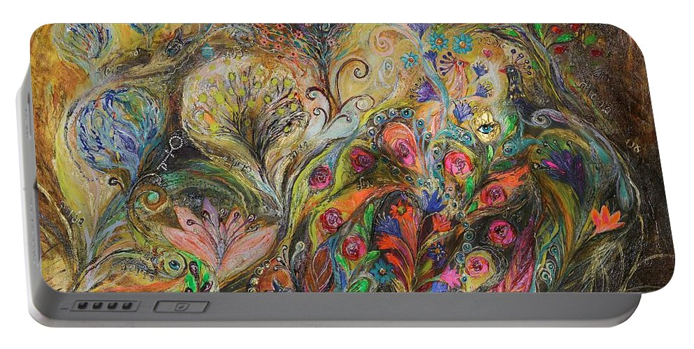 Judaica Portable Battery Charger featuring the painting Under The Wind by Elena Kotliarker
