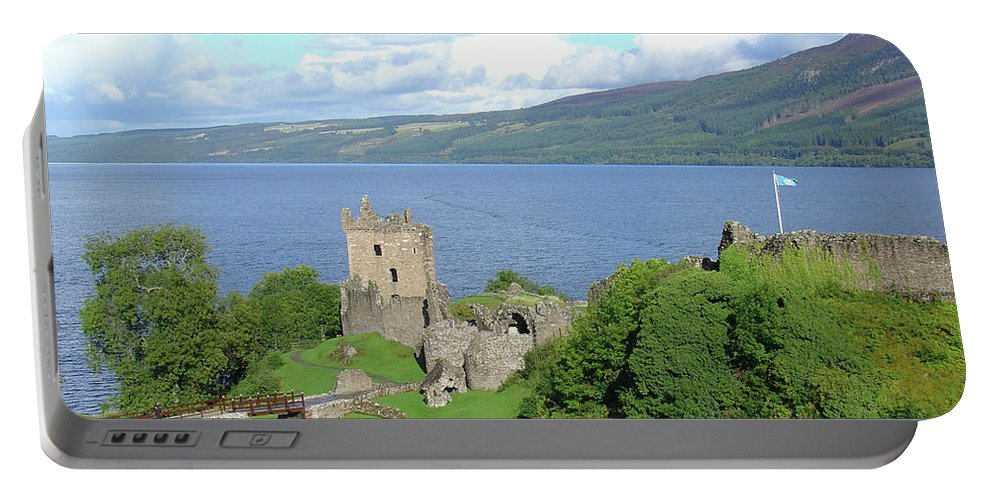 Loch Portable Battery Charger featuring the photograph Urquhart Castle by Charles and Melisa Morrison