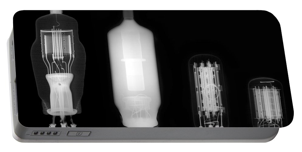 X-ray Portable Battery Charger featuring the photograph Vacuum Tube by Ted Kinsman
