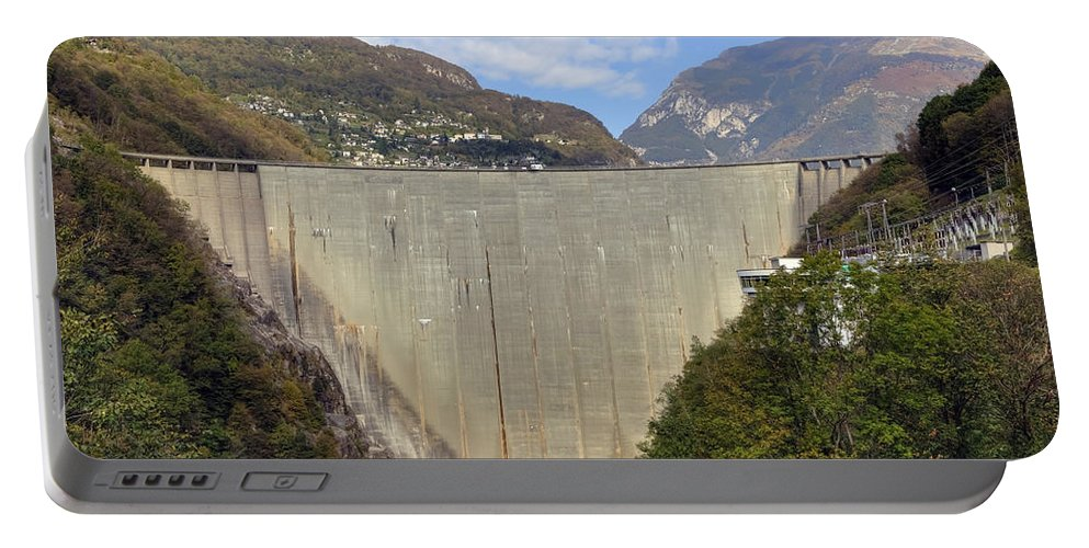 Dam Portable Battery Charger featuring the photograph Valle Verzasca - Ticino by Joana Kruse