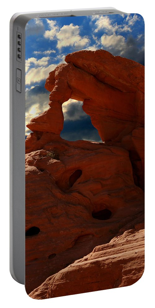 Valley Of Fire Portable Battery Charger featuring the photograph Valley Of Fire by Chris Brannen