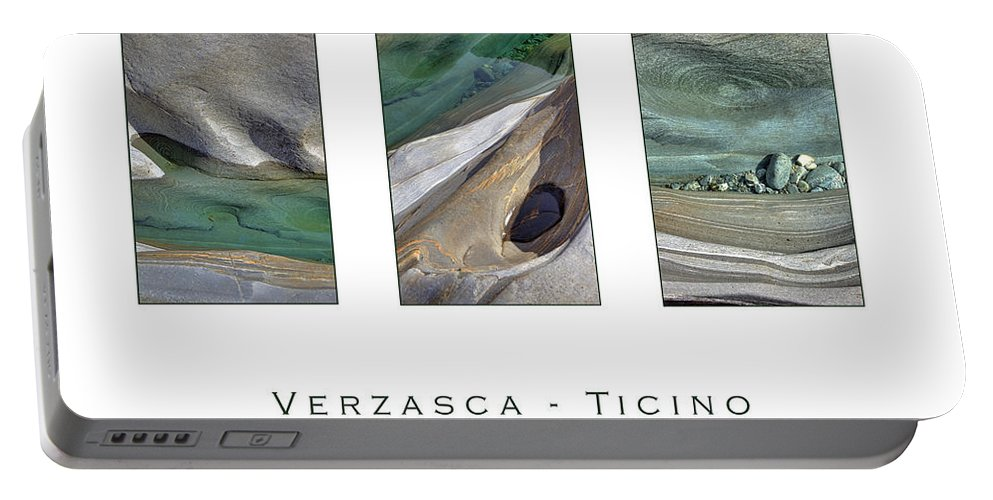 Verzasca Portable Battery Charger featuring the photograph Verzasca Stones by Joana Kruse