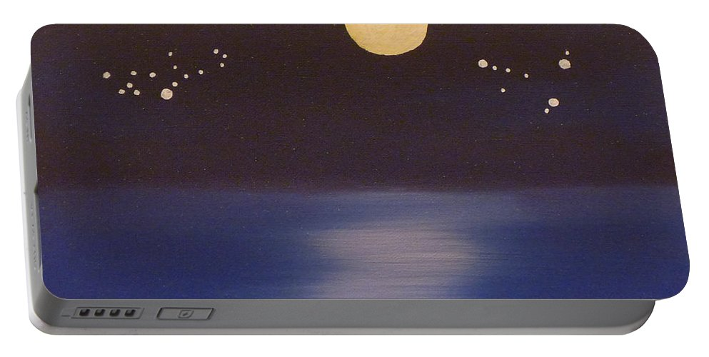 Virgo Portable Battery Charger featuring the painting Virgo And Capricorn by Alys Caviness-Gober