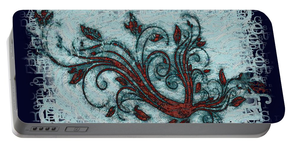 Weeds Portable Battery Charger featuring the digital art Weeds by Bill Cannon