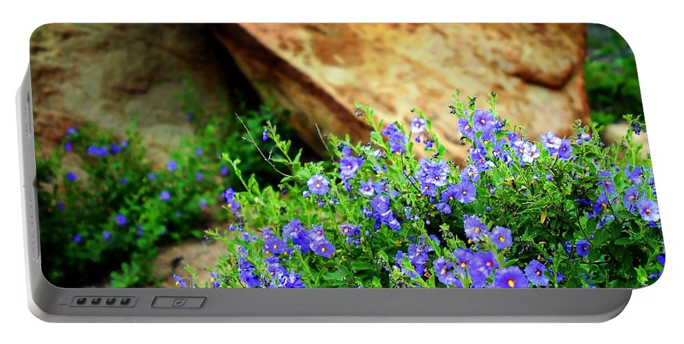 Nature Portable Battery Charger featuring the photograph Wildflowers by Henrik Lehnerer