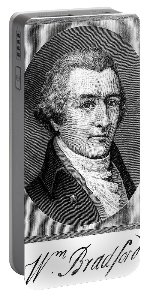 18th Century Portable Battery Charger featuring the photograph William Bradford by Granger