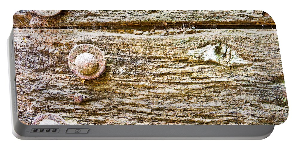 Background Portable Battery Charger featuring the photograph Wooden Background by Tom Gowanlock