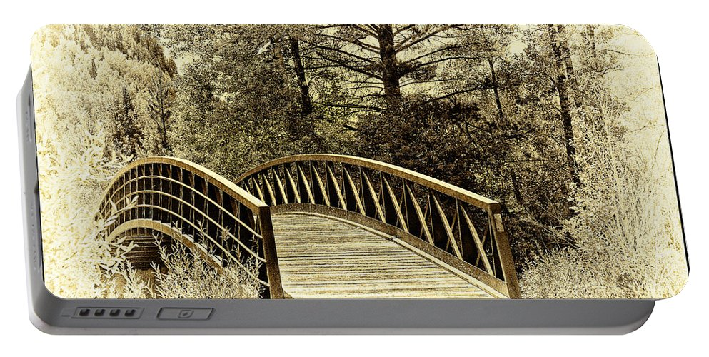 Bridge Portable Battery Charger featuring the photograph Wooden Bridge by Madeline Ellis