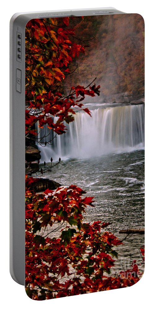 Cumberland Falls Portable Battery Charger featuring the photograph Cumberland Falls Ky by Anne Kitzman
