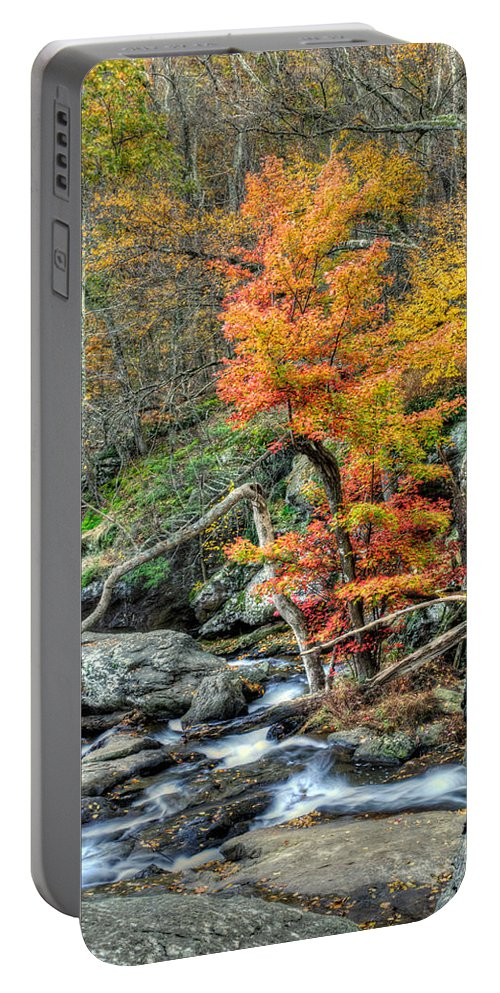 Cunningham Falls Portable Battery Charger featuring the photograph Cunningham Falls by Mark Dodd