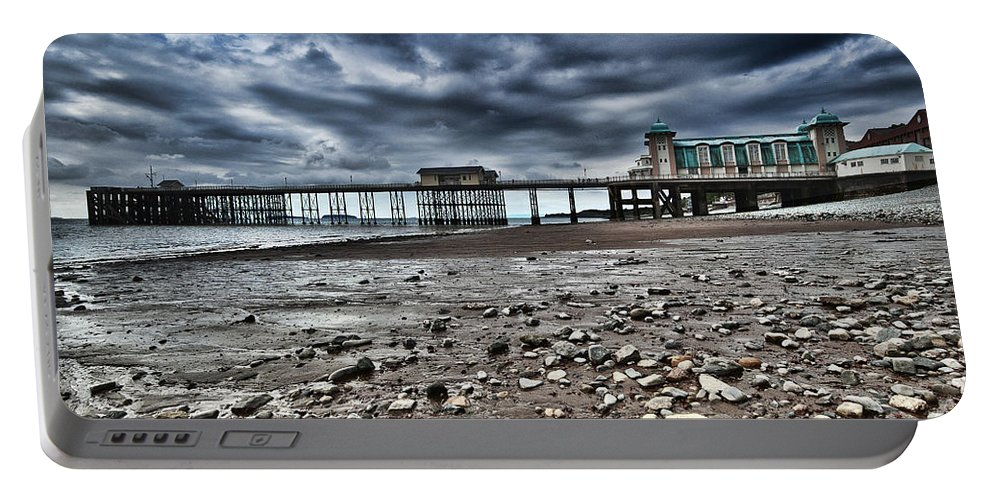 Penarth Pier Portable Battery Charger featuring the photograph Penarth Pier by Steve Purnell