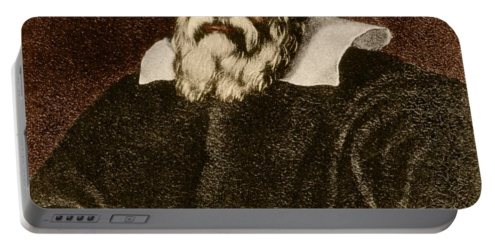 Science Portable Battery Charger featuring the photograph Galileo Galilei, Italian Polymath by Science Source