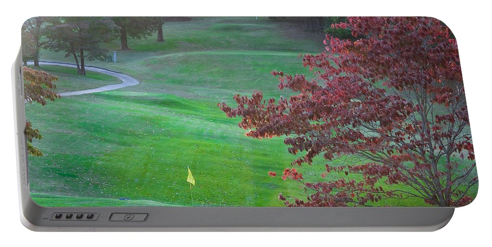 11th Hole Portable Battery Charger featuring the photograph 11th Hole At Clarksville C C by Ed Gleichman