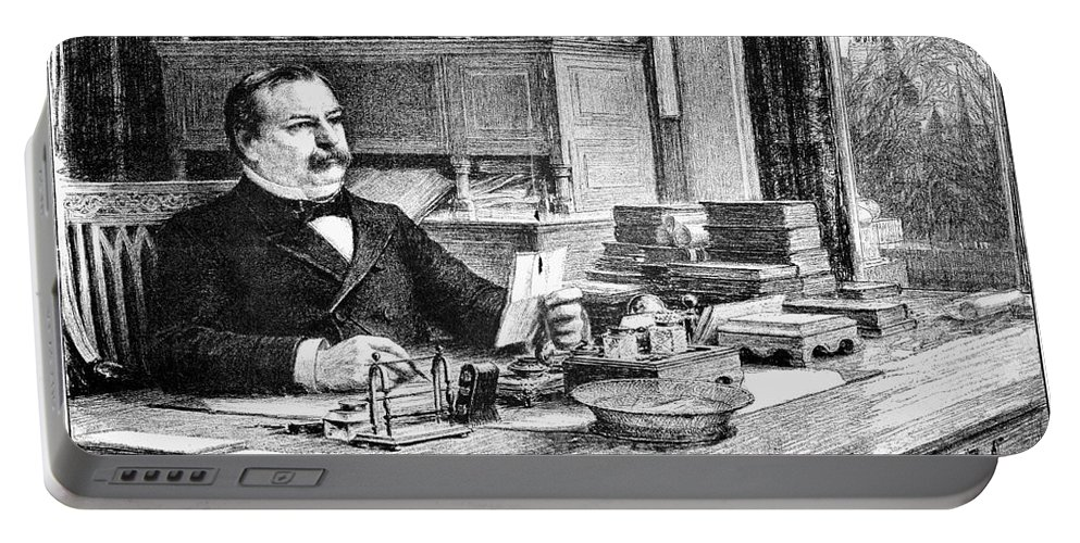 1884 Portable Battery Charger featuring the photograph Grover Cleveland by Granger