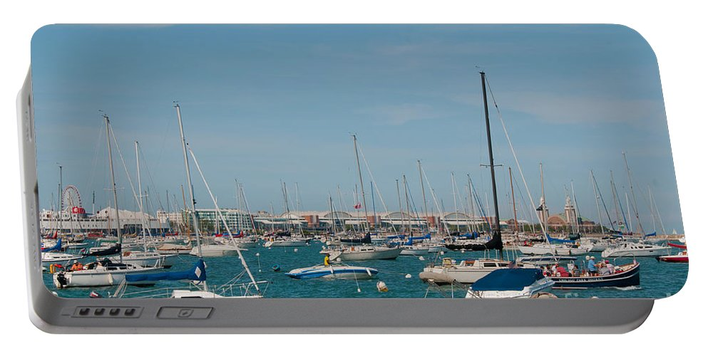 Chicago Portable Battery Charger featuring the photograph Chicago City Scenes by Carol Ailles