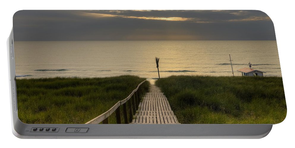 Boardwalk Portable Battery Charger featuring the photograph Sylt by Joana Kruse
