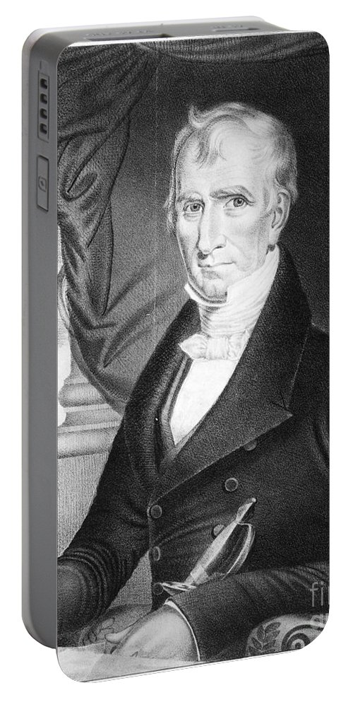 1841 Portable Battery Charger featuring the photograph William Henry Harrison by Granger