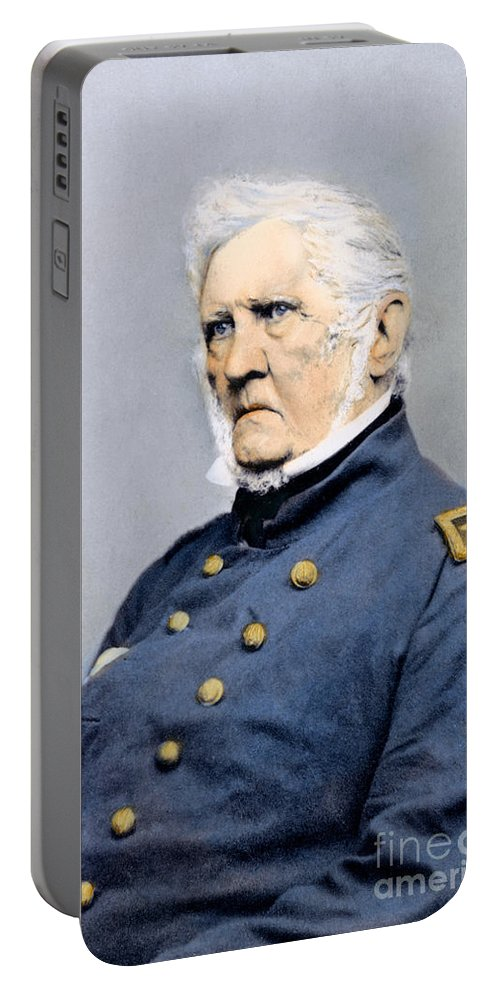 1865 Portable Battery Charger featuring the photograph Winfield Scott (1786-1866) by Granger
